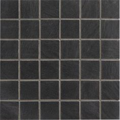 Mosa que sol mur en ardoise brazil 10x10 noir 30x30cm for Carrelage zellige noir