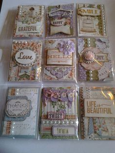 A beautiful pocket letter I found somewhere on the net. Unfortunately I do not know who created it. If you know please leave a comment. Pocket Pal, Pocket Cards, Atc Cards, Journal Cards, Pocket Scrapbooking, Scrapbook Cards, Graphic 45, Project Life, Shabby