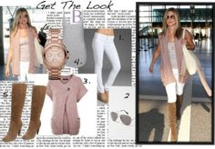 Get the Look: Jennifer Anniston's neutral ensemble is a chic outfit for a daytime date. It's also a great choice for a day of traveling!
