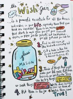 "Wish Jar ... by Keri Smith from her book ""LIVING OUT LOUD"""