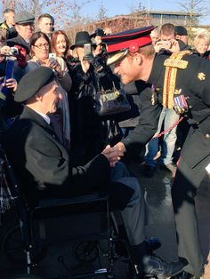"Kensington Palace on Twitter: ""It is such a privilege to meet you, Prince Harry told this 98-year-old veteran."