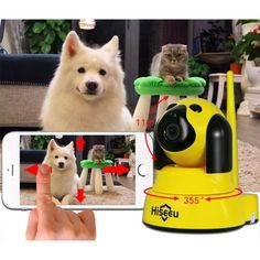CAMÉRA IP WIFI SMART SECURITY DOG CAMÉRA MICRO SD RÉSEAU ROTATIF DEFENDER ACCUEIL TELECAM HD CCTV IOS PC HISEEU usage facile plug&play configuration smartphone