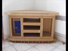 ▶ Un meuble de télévision en carton - De sa conception jusqu'à sa construction - - YouTube