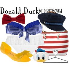 Donald Duck Bathing Suit by Disneybound Disney Bathing Suit, Cute Bathing Suits, Disney Themed Outfits, Disney Bound Outfits, Disneyland Outfits, Nerd Outfits, Friend Outfits, Concert Outfits, Disney Dress Up
