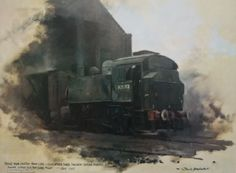 david shepherd - Google Search Heritage Railway, Steam Railway, Train Art, British Rail, Train Engines, Isle Of Wight, Steam Engine, Steam Locomotive, Old School
