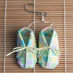 Pastel Fabric Origami Baby Bootie Ornament by wendysorigami, $4.00