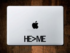 HE > ME Decal Vinyl Macbook decal, laptop decal, window decal,Christain, Car Decal, Jesus,Bible by NebraskaVinyl on Etsy