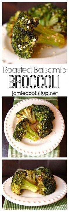 Roasted Balsamic Broccoli from Jamie Cooks It Up! If you haven't ever tried roasting broccoli, give it a go. It's fabulous, much better than you are thinking it's going to be. :)