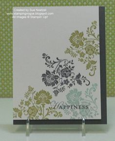 Simple stamped card, yet so pretty!