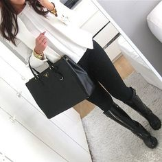 already have a white blazer but love the structured dark black pants