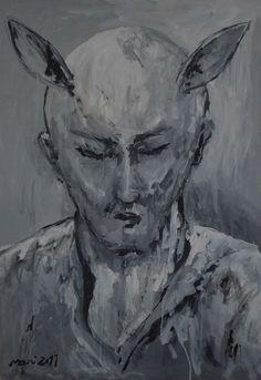 ''Human dark side'' Human dark side 2011 Acrylic on canvas Size: 50 x70