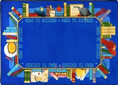 Read to Succeed Kids Library Rug - JC1438XX - Joy Carpets