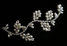 Handmade Bridal Hair Vine made with Swarovski Crystal by susanyork, £69.99