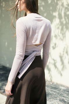 SALE 30% OFF Pari Desai - Lilac Metallic Lia Wrap Sweater | BONA DRAG
