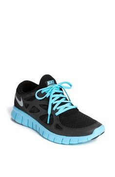 Nike 'Free Run+ 2' Reflective Running Shoe in Black/Silver/Blue    i have the regular Black/Anthracite and want these next - so comfortable!
