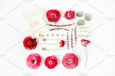 Floral composition with ranunculus by Floral Deco on @creativemarket