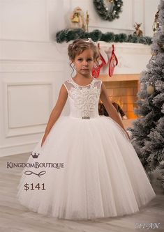 Cheap girls pageant gown, Buy Quality girl communion dress directly from China girl first communion dress Suppliers: Custom made Pearls tulle flower girl dresses 2017 hot sale Lovely Baby Girl first communion dresses girls pageant gown Tulle Flower Girl, Ivory Flower Girl Dresses, Wedding Dresses For Girls, Little Girl Dresses, Wedding Party Dresses, Girls Dresses, Bridesmaid Dresses, Dresses 2016, Summer Dresses