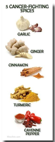 5 cancer fighting spices; #health #plantbased