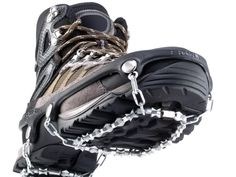 A pair of ICEtrekkers to keep you from falling or slipping on the ice.