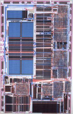 Intel Corporation, Santa Clara, CA. Diagram for Intel486 (TM) Microprocessor Chip. 1989