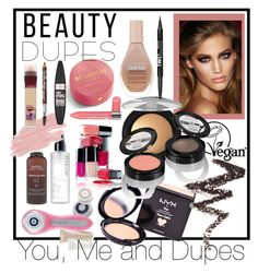 """""""You, Me and Dupes."""" by babett-beattie on Polyvore featuring Schönheit, NYX, Bourjois, Charlotte Tilbury, Lavera, Maybelline, Clarisonic, Aveda, Jane Iredale und beautydupes"""