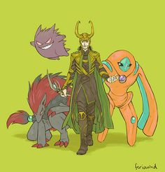 Loki's Pokemon team.