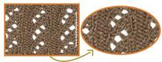 punto falso ocho calado en dos agujas o palillos - knitting stitch