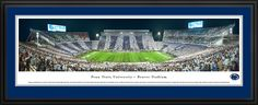 Penn State Nittany Lions Panoramic Picture - Beaver Stadium - Deluxe Frame $199.95