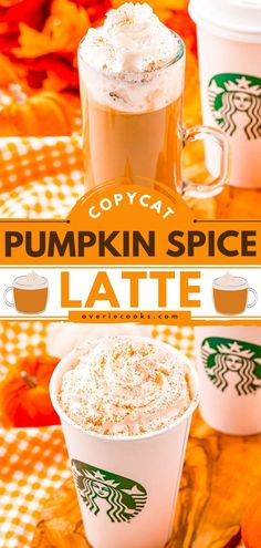 This Copycat Starbucks Pumpkin Spice Latte is spot on! Thanks to this pumpkin recipe, you can skip going out and those long lines for the perfect fall drink while saving money. Plus, you are going to love how this homemade version tastes like the real thing! Copycat Starbucks Pumpkin Spice Latte Recipe, Iced Pumpkin Spice Latte, Pumpkin Spiced Latte Recipe, Pumpkin Puree, Pumpkin Recipes, Old Recipes, Drink Recipes, Easy Recipes, Spices