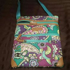 Crossbody Paisley print, multi color cross body with adjustable strap. stone & co. Bags Crossbody Bags