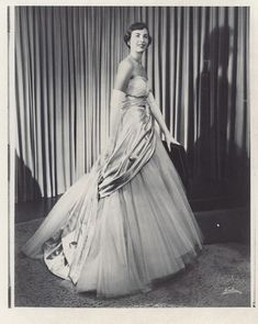 Miss Jeanne Brucker in her Dior gown, 1949