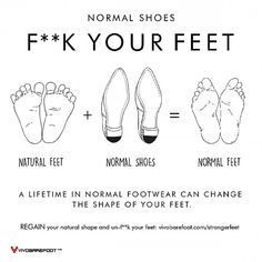 """The painful truth about a lifetime in 'normal' footwear. #forfootsake unf**k your feet. #vivobarefoot"""