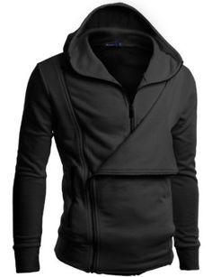 Mens hoodie Jumper with Side Zipup