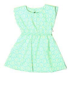 Take a look at this Aqua Honeycomb Nina Dress - Toddler & Girls by rock me! on #zulily today!  Want to make a romper!