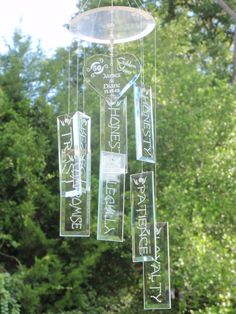 Glass wind chime