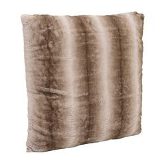 SYNTHETIC FUR CUSHION COVER IN BROWN COLOR 60X60 - Furs - FABRIC ITEMS