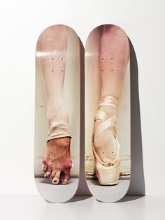 Skate Deck takes a little behind the scenes look at a ballerina's feet - Henry Leutwyler