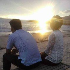 Staring at the sunset with my love..