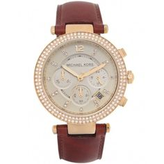 Michael Kors Watches Women's Parker Chronograph Glitz Watch MK2249 ($320) ❤ liked on Polyvore