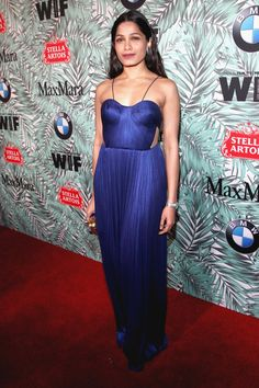 Actor Freida Pinto attends the tenth annual Women in Film Pre-Oscar Cocktail Party presented by Max Mara and BMW at Nightingale Plaza on February 24, 2017 in Los Angeles, California.