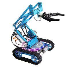 Makeblock Ultimate Arduino Robot Kit Aluminum Open Source for DIY Maker Robotics Projects, Arduino Projects, Electronics Projects, Robotics Engineering, Electronics Basics, Robot Kits For Kids, Build A Robot, Programmable Robot, Learn Robotics