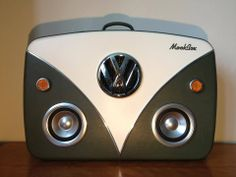 The Vdub Mookbox - Vw Camper inspired Suitcase Boombox Volkswagen Transporter, Volkswagen Bus, Vw T1, Boombox, Vw Camper, Jetta A4, Convertible, Combi Vw, Vw Vintage