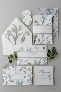 How cute are these illustrated wildflower wedding invitations? I love a good floral pattern! Diy Invitation, Wedding Invitation Envelopes, Wedding Invitation Design, Wedding Stationary, Invitation Templates, Illustrated Wedding Invitations, Floral Invitation, Floral Wedding Stationery, Botanical Wedding Invitations