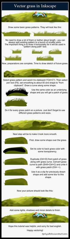 Vector grass tutorial by ~tgolyi on deviantART