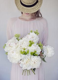 White Peonies by Christina Greve Romantic Flowers, Pretty Flowers, White Flowers, Flower Girl Photos, Flower Girl Dresses, My Flower, Flower Power, Flowers Instagram, Hollyhock