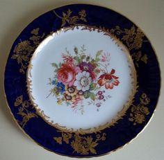 Hammersley & Company England Hand Painted Bone China Plate 1900-1932