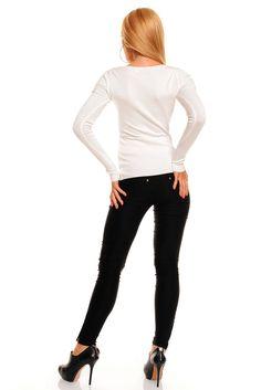 Flott ensfarget og langarmet genser.   http://www.seduce.no/prod.php?id=58354