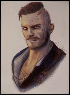 Olgierd from the new witcher 3 expansion Hearts of Stone video-->youtu.be/mmWfdSJUqnI Olgierd von Evrec-The Witcher 3 Olgierd Von Everec, Fantasy Portraits, The Witcher 3, Shows On Netflix, Medieval Fantasy, Storytelling, Drawings, Games, Books