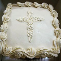 Christening, Frosting, Cake Decorating, Bakery, Pie Crusts, Fancy, Container Garden, Pastries, Desserts