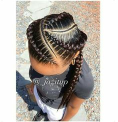 I want Ghana braids for my hairstyle Black Girl Braids, Braids For Black Hair, Girls Braids, Braids For Kids, Wig Styling, Curly Hair Styles, Natural Hair Styles, Natural Braids, African Braids Hairstyles